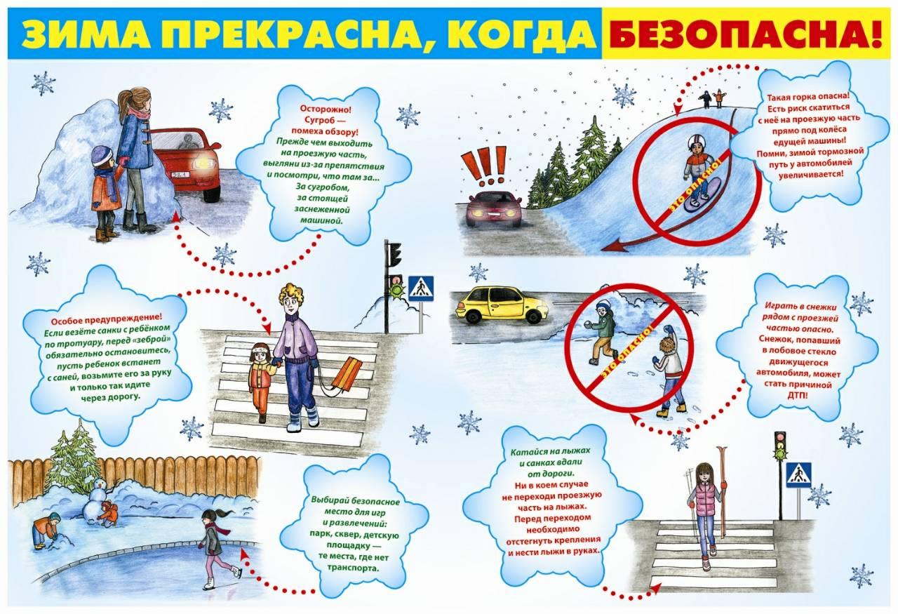 Картинки по запросу техника безопасности на зимний период на дороге